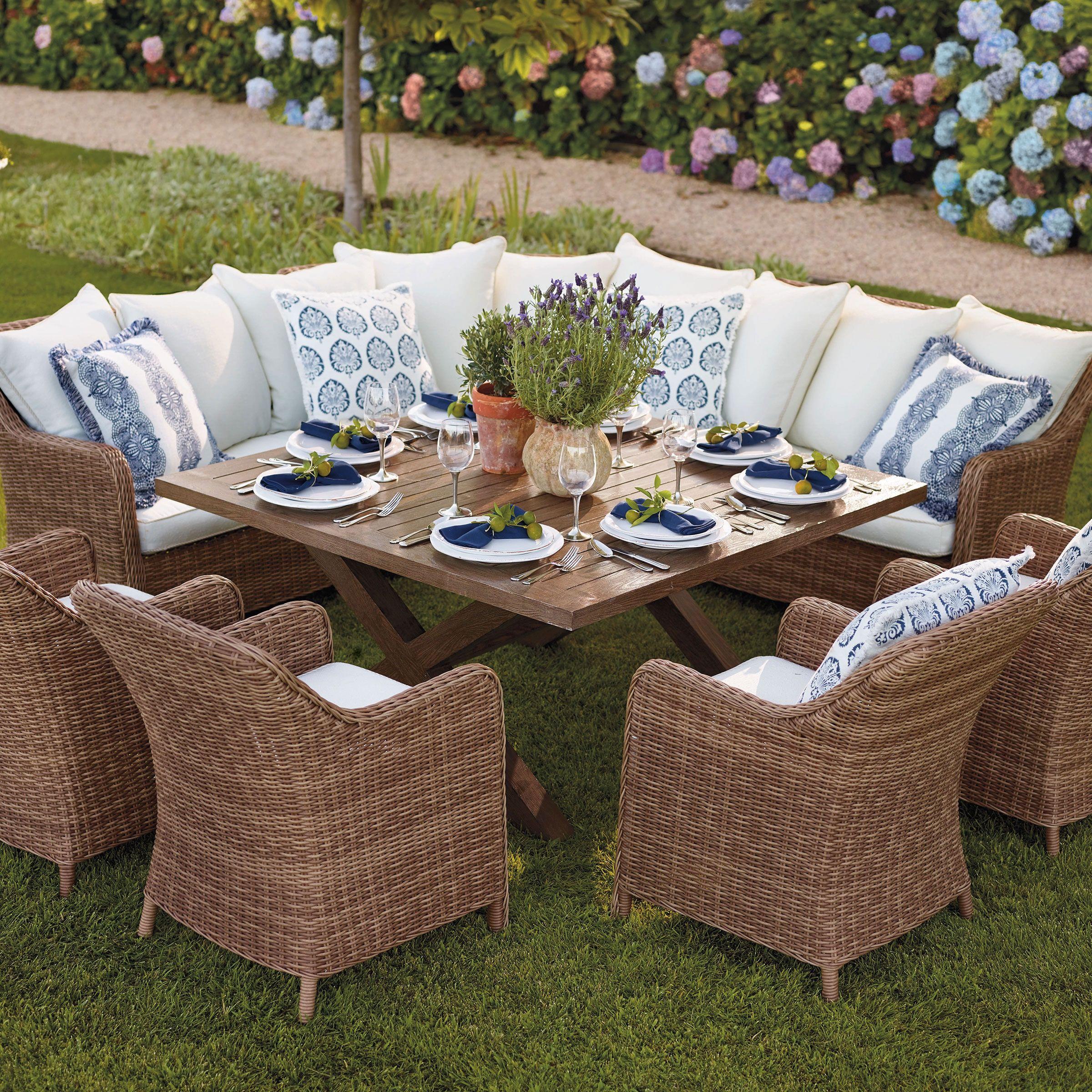 Rattan Outdoor Dinner Furniture Rustic Outdoor Furniture Outdoor Furniture Square Dining Tables