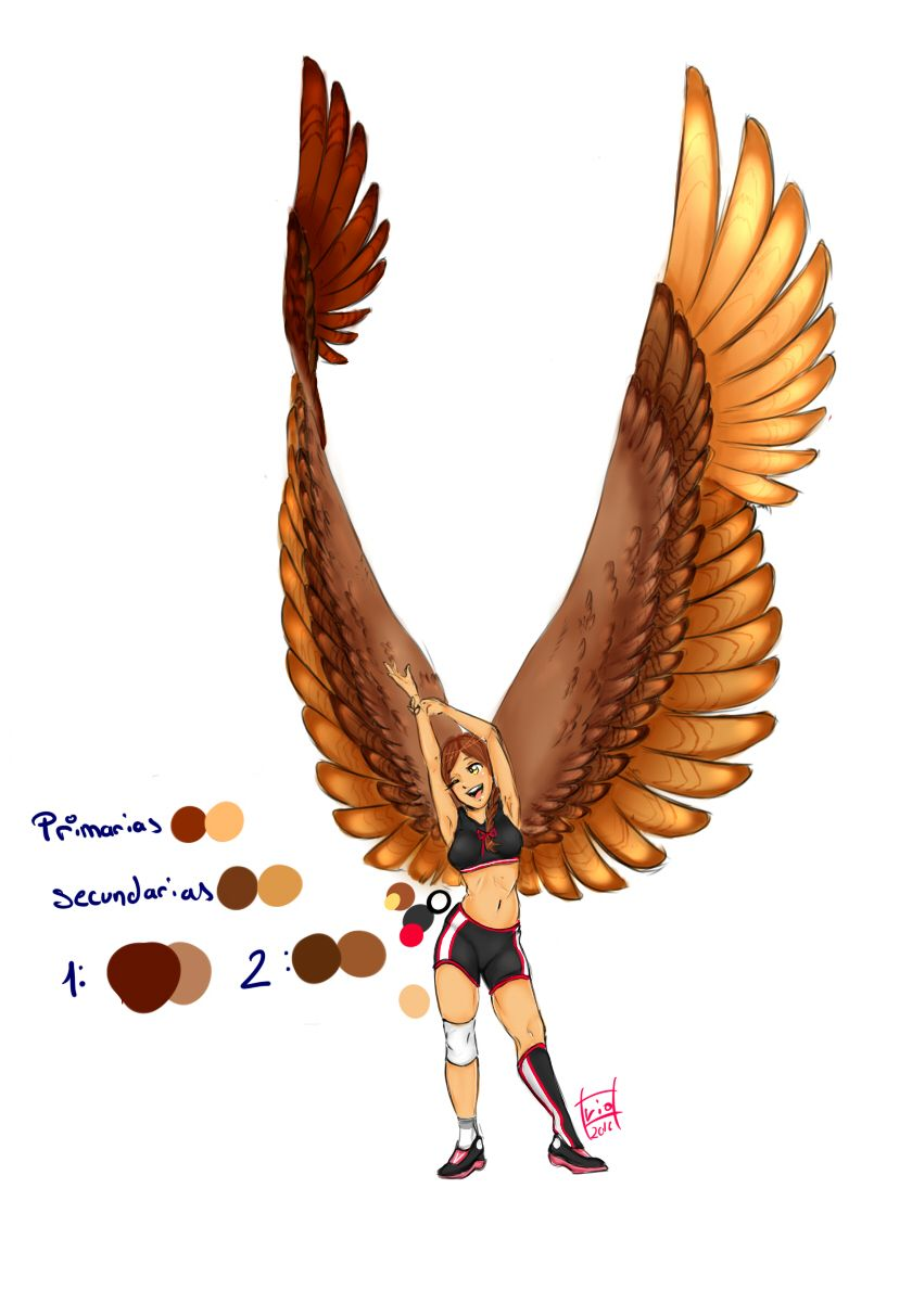 Alas by vi chann human wings bird people people art anime
