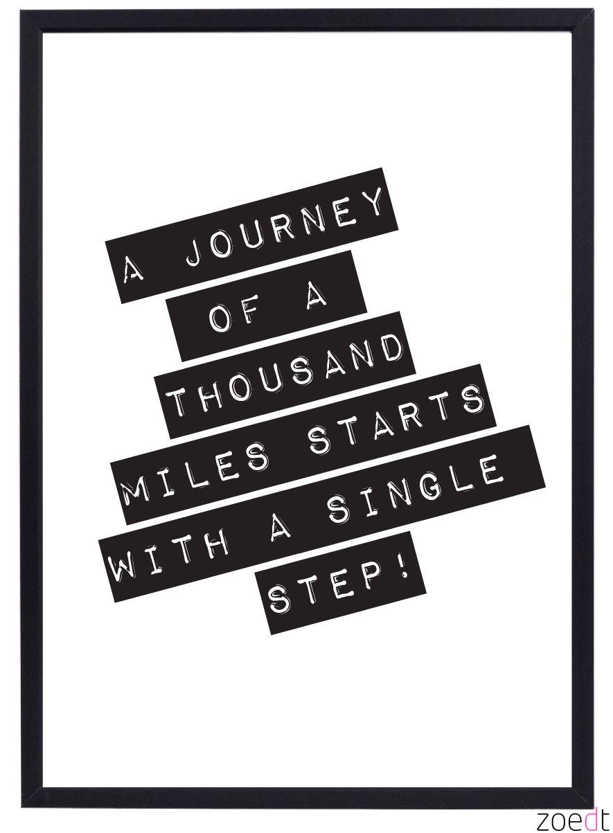 Een leuke poster van Zoedt in zwart/wit met een mooie tekst. Leuk ...