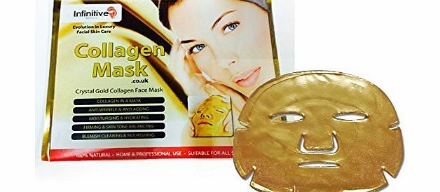 Infinitive Beauty Crystal Gold Collagen Face Mask 10 X New