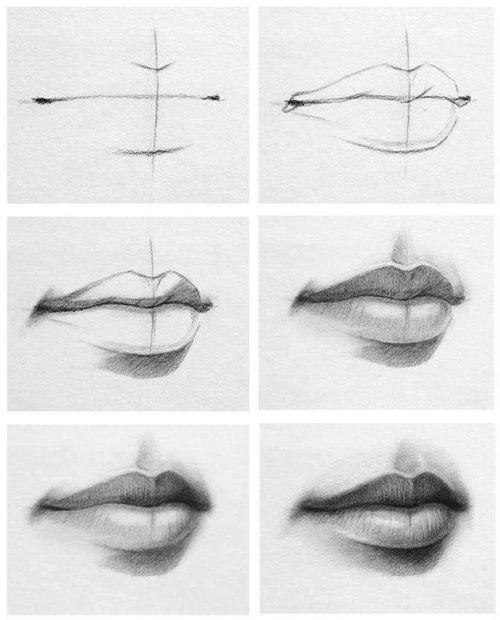 immagine di lips art and drawing drawing pinterest mund zeichnen und zeichnen lernen. Black Bedroom Furniture Sets. Home Design Ideas