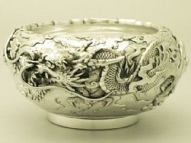 An exceptional, fine and impressive antique pure silver bowl; an addition to our dining silverware collection