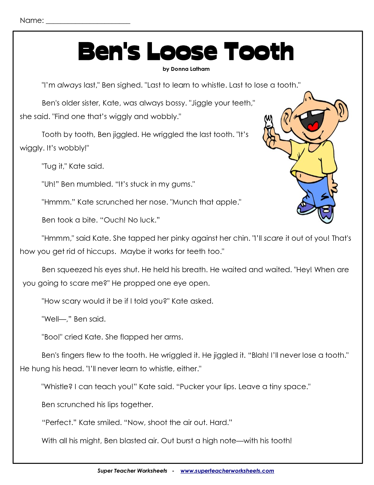 Comprehension Worksheets for 3rd Grade 3Rd Grade