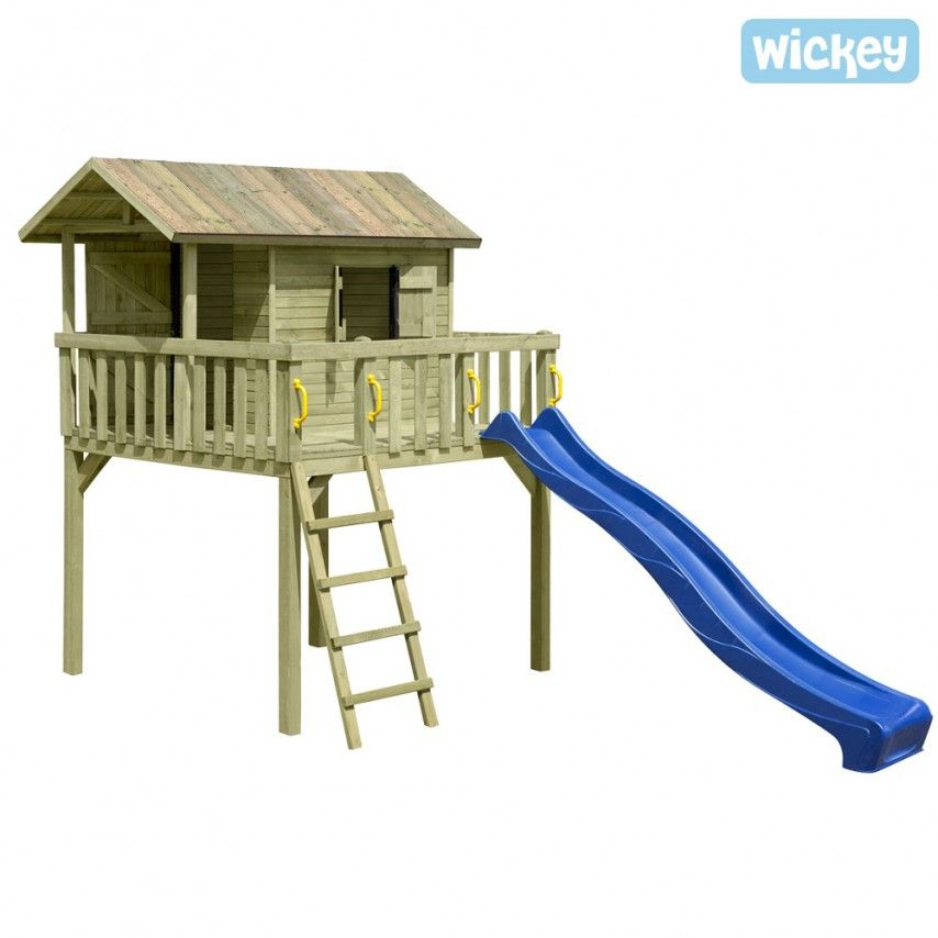 Stilted House Maxi with wooden roof 665 Wicked | Climbing frames ...