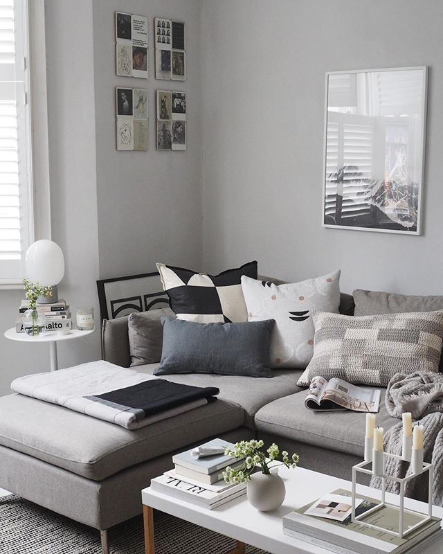 Cosy Scandi Style Living Room In 2020 Living Room Grey Scandi Style Living Room White Rooms