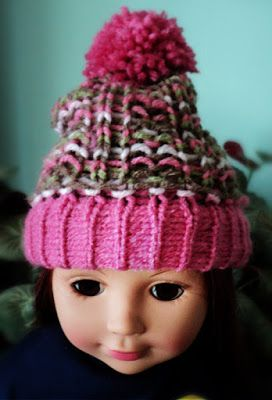Loom Knitting Projects: Loom Knit Doll Hat Project -- The Polperro Northco... #dollhats