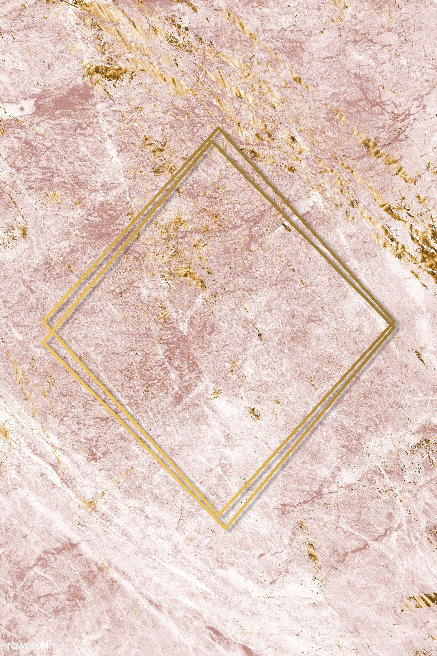 Download premium image of Pink and gold marble textured background #marbletexture