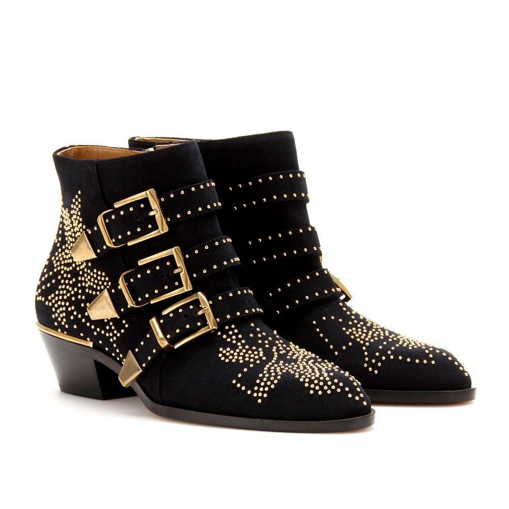 e558dcfa8369 mytheresa.com - Susanna studded suede buckle ankle boots - Luxury Fashion  for Women   Designer clothing