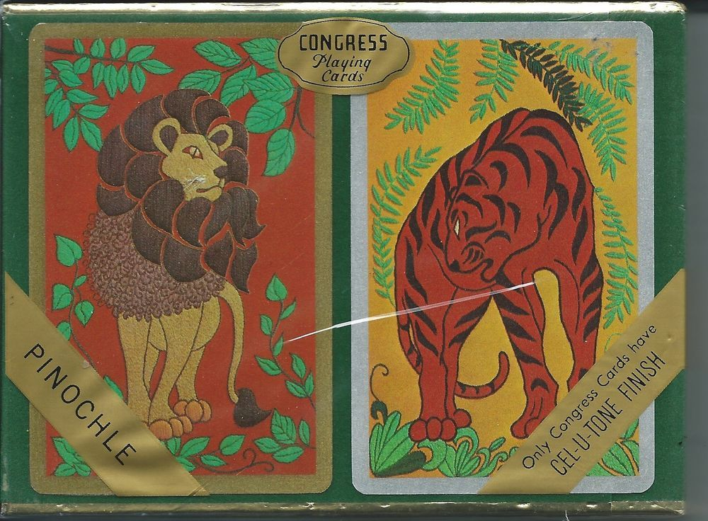 Vintage Congress Playing Cards Pinochle CelUTone Finish