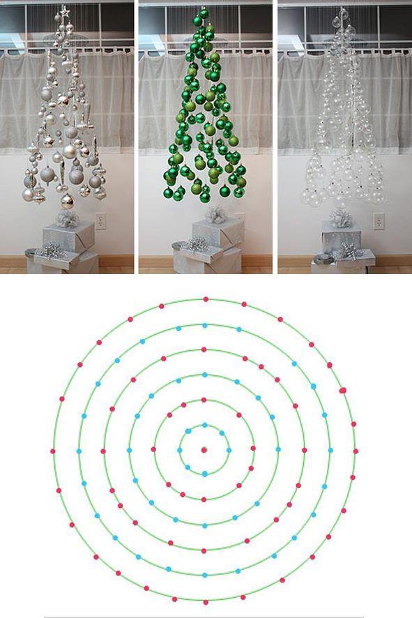 weihnachtsbaum aus kugeln mit anleitung weihnachten. Black Bedroom Furniture Sets. Home Design Ideas