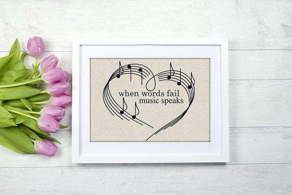 inspirational musci quote when words fail music speaks gift for