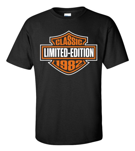 Classic Limited Edition Made In 1982 T-Shirt Aged by ShirtMakers