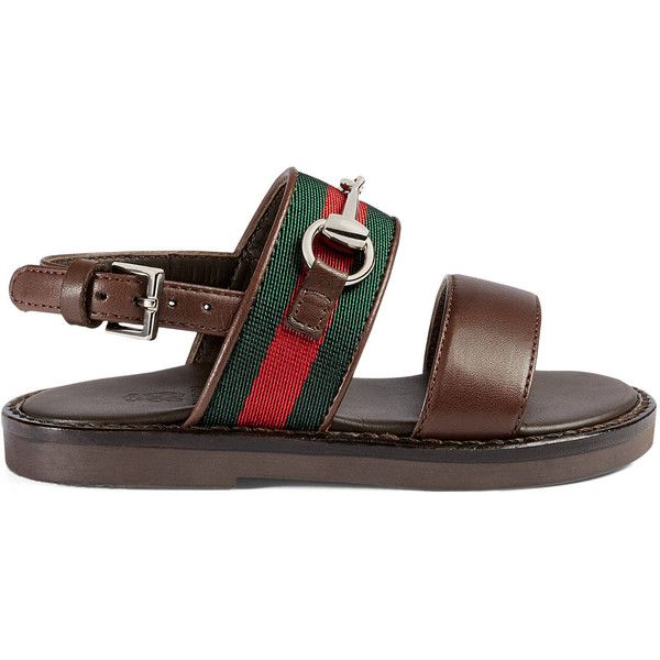 a12607795f9 Gucci Toddler Web Horsebit Sandal ( 270) ❤ liked on Polyvore featuring baby
