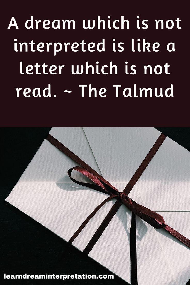 Dream Interpretation Quote From The Talmud Lightwork Spiritual