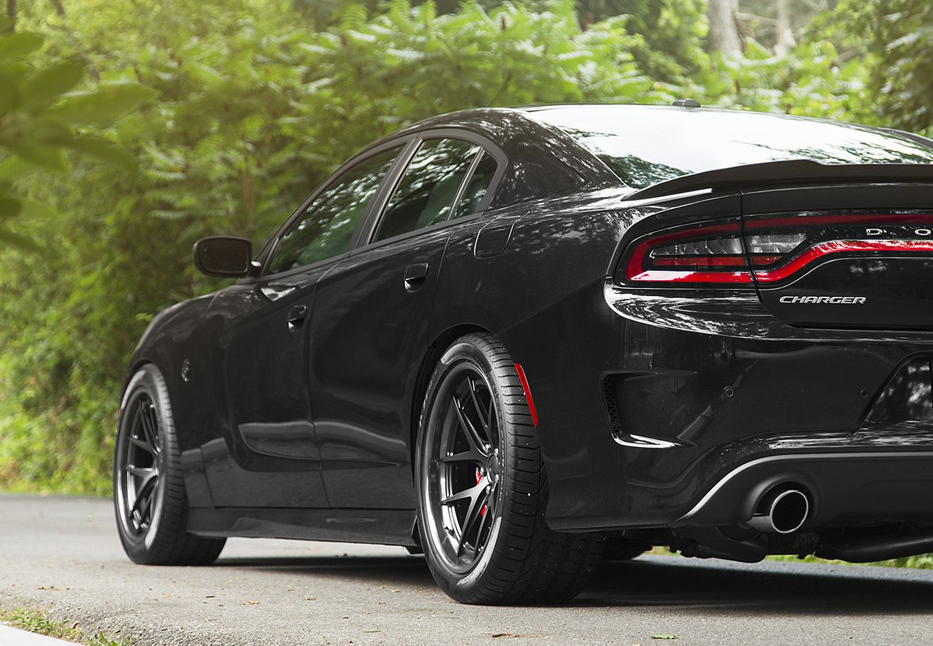 our friends at pfaff tuning added a big dose of agility to this 707hp dodge charger hellcat with. Black Bedroom Furniture Sets. Home Design Ideas