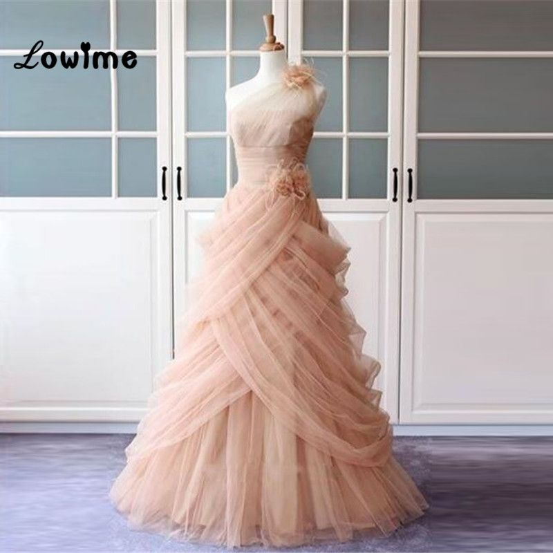 Sexy Long Pink Tulle Formal Evening Party Dress Floral Turkish Engagement  Evening Gowns Dresses Lebanon Saree Abendkleider 2017  Saree Custom Made  Service ... 92f8fb2cbc8f