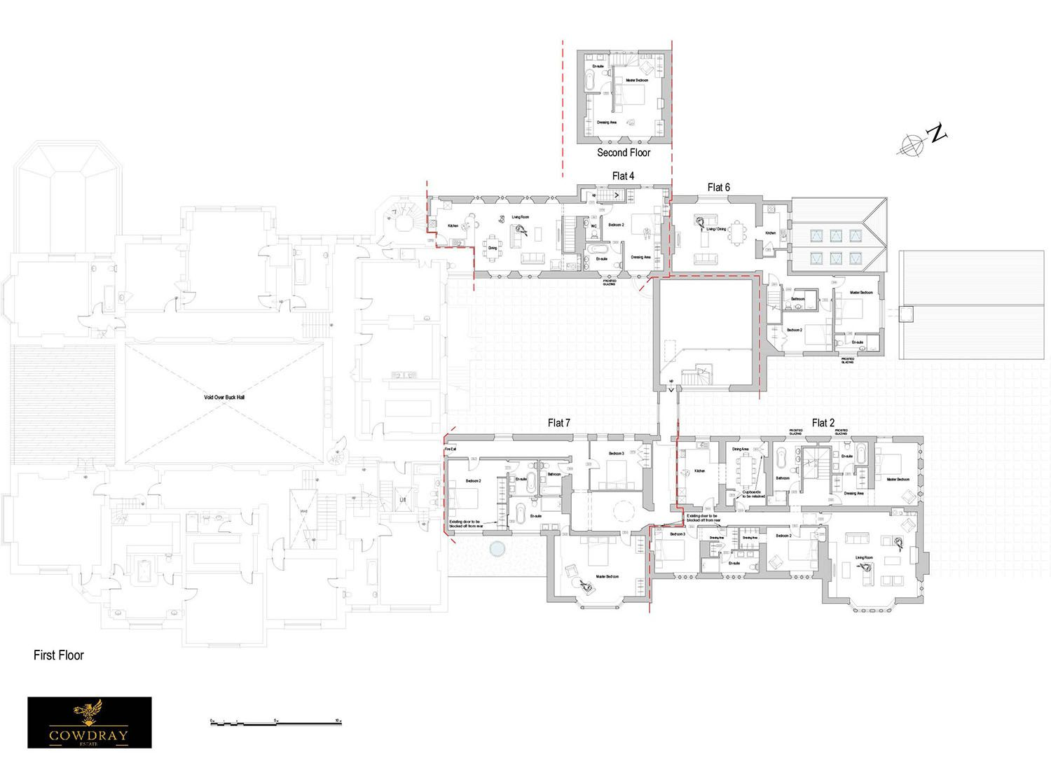44 000 Square Foot English Estate Floor Plan Of Upper Level Cowdray Park House Floor Plans Residential Architecture How To Plan