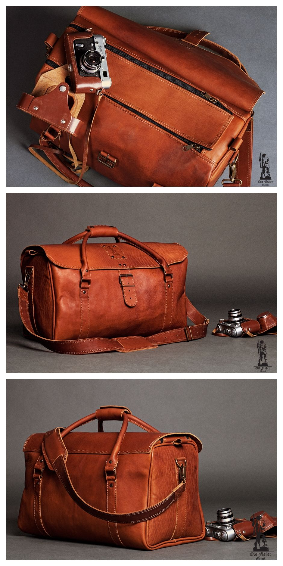 52f274cdee3e Leather Bag, Vintage Leather Bag, Leather Travel Bag, Leather Duffle ...