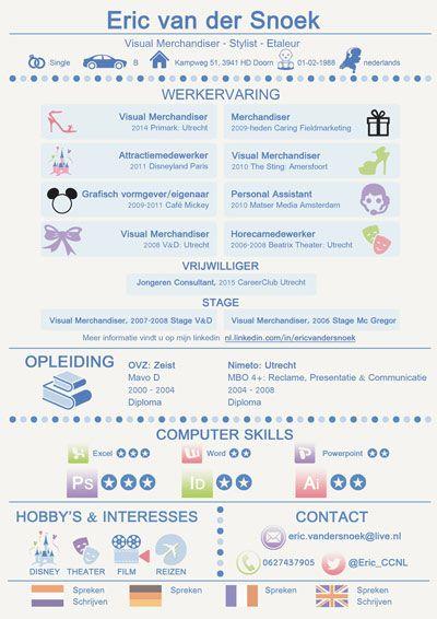 sollicitatiebrief visual merchandiser cv van de week   week 12   Eric van der Snoek. Jouw cv in de  sollicitatiebrief visual merchandiser