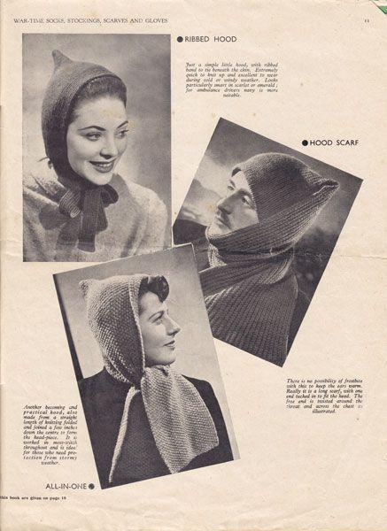 vintage wartime knitting pattern 1940's   Ladies knitting ...