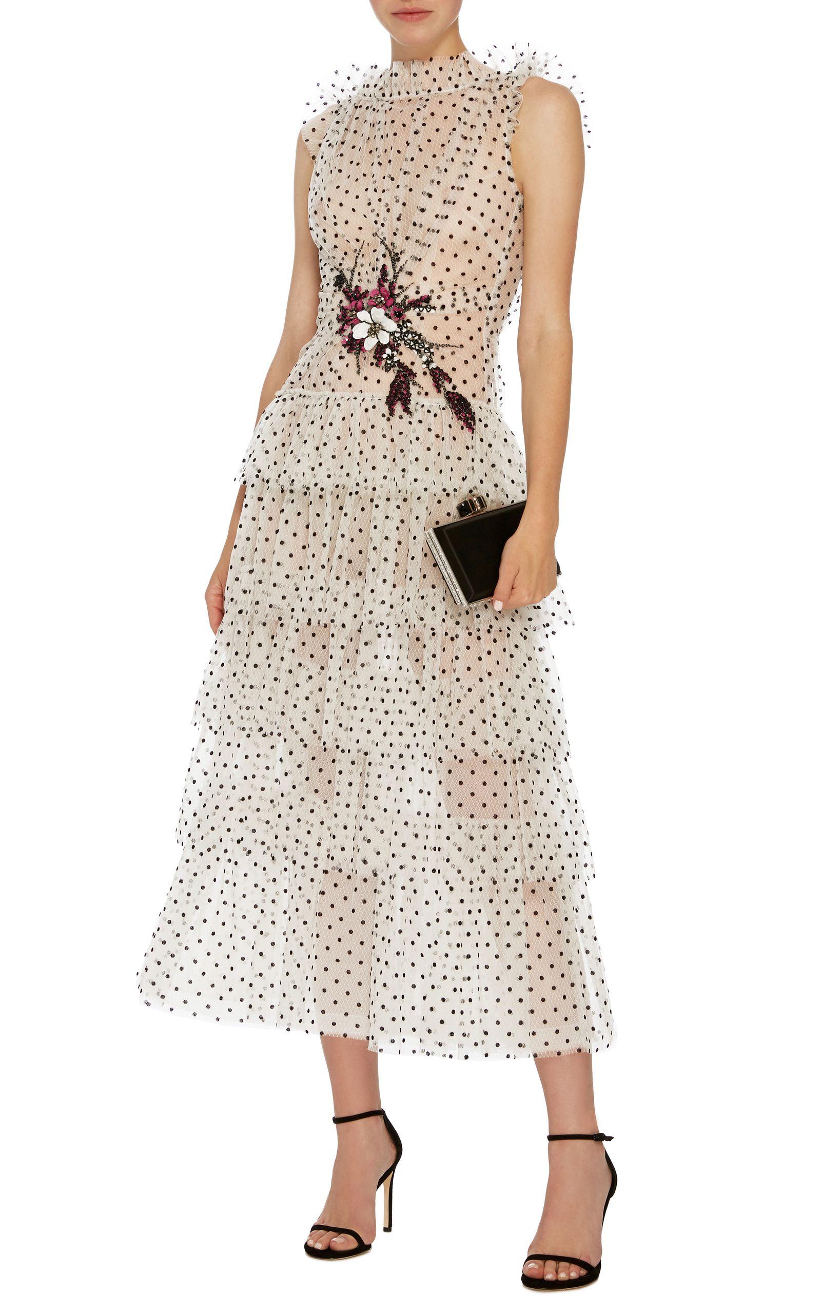 Flocked Tulle Ruffle Dress By Rodarte Now Available On Moda Operandi Dresses Fashion Tulle Ruffle Dress [ 2560 x 1598 Pixel ]
