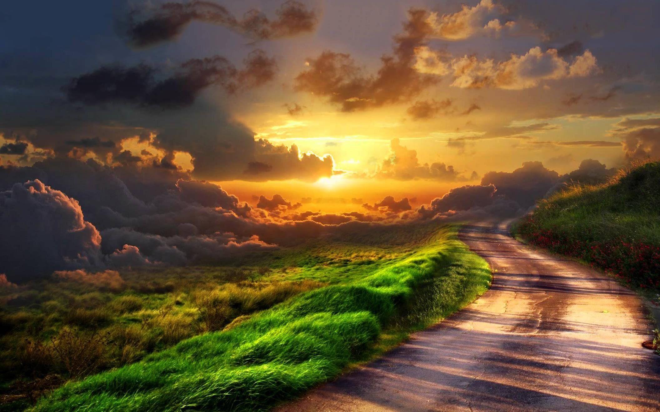 Heaven Wallpapers Path To Heaven Heaven Wallpaper Sunset Artwork