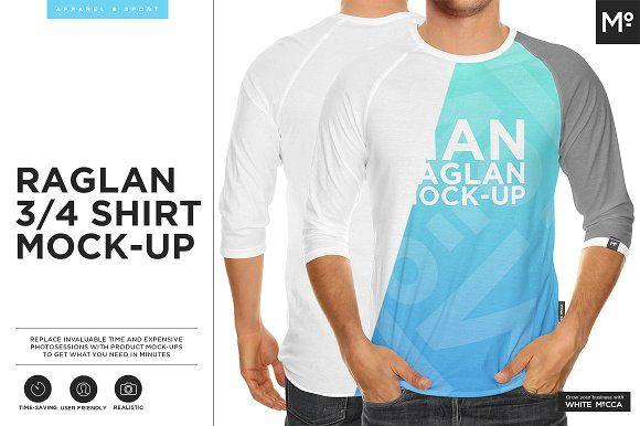 Download Raglan 3 4 Shirt Mock Up 4th Shirts Shirt Mockup Mockup Free Psd