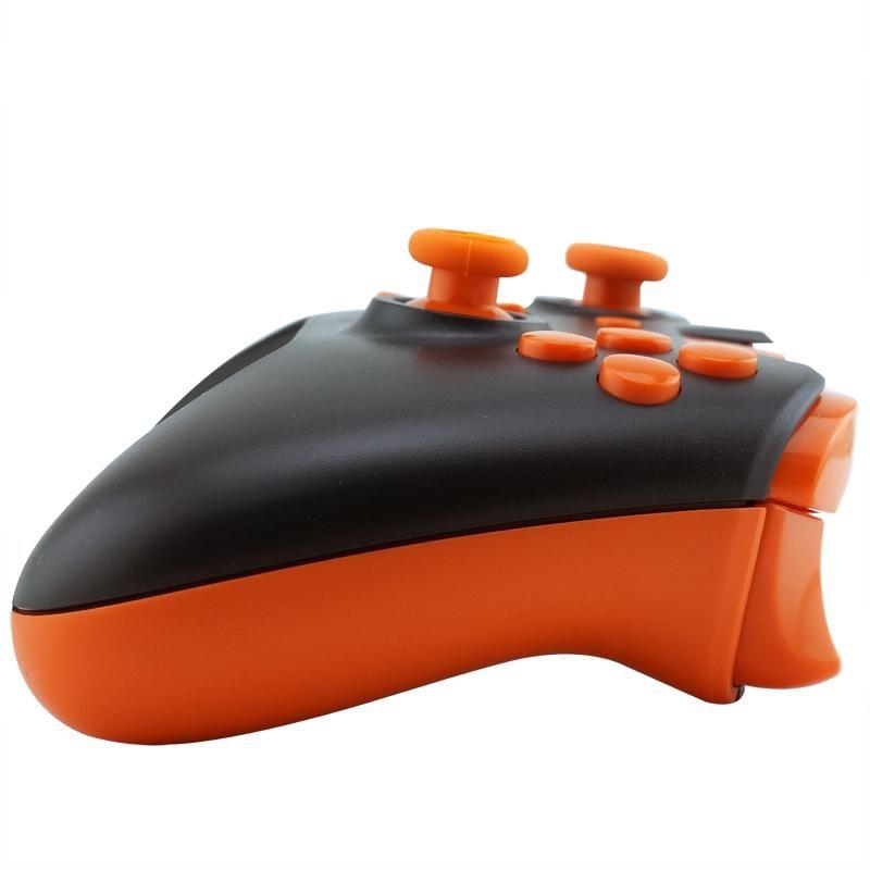 Matte Black Controller Shell Mod Kit + Buttons Orange Shell