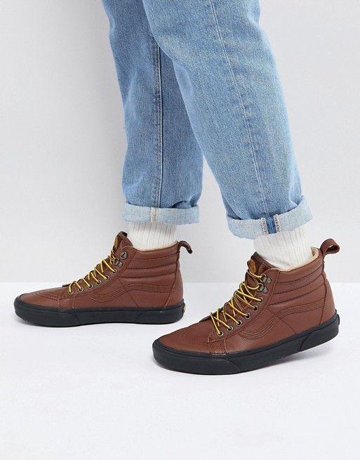 c2481cccba Vans Sk8-Hi MTE Sneakers In Brown VA33TXQWU