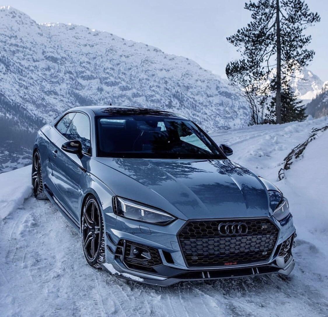 RS5 - Winter ❄️ : Audi #audivehicles