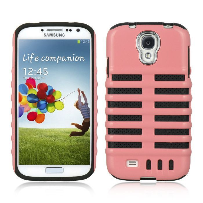 Etch Hybrid Crystal Skin Case for Samsung Galaxy S4 - Hot Pink