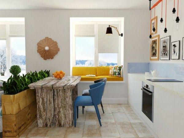 küche einrichten eklektische kücheneinrichtung Küche - kleine l küche