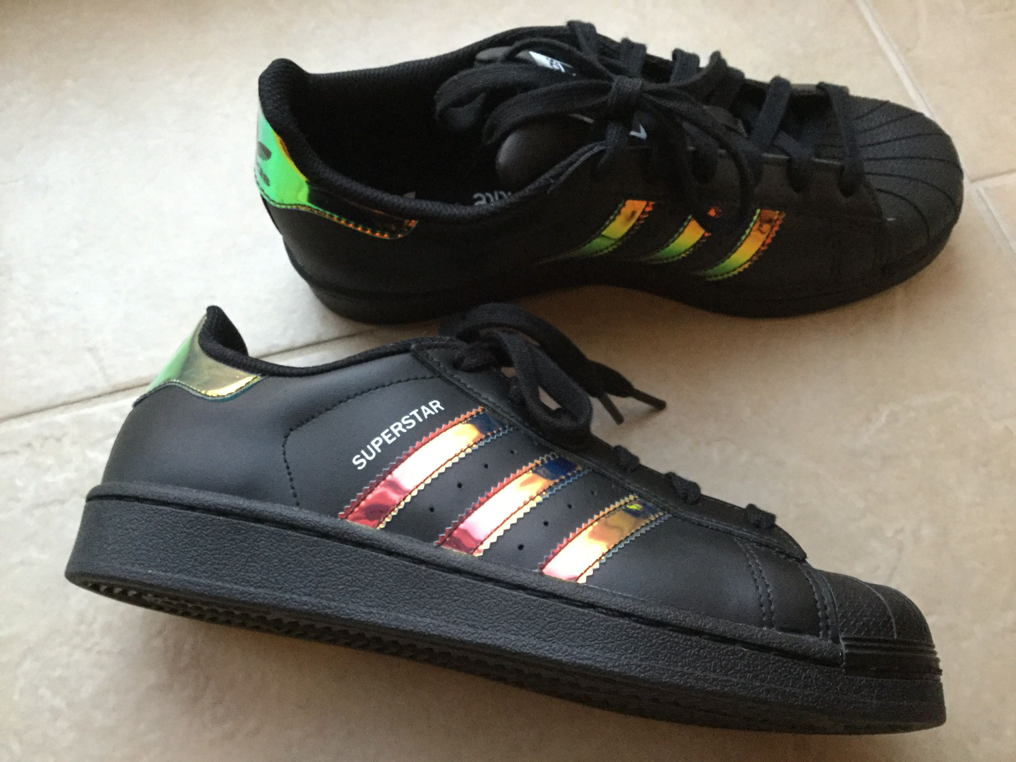 info for 4adb9 f25ca Adidas Superstar holographic black - ❤️