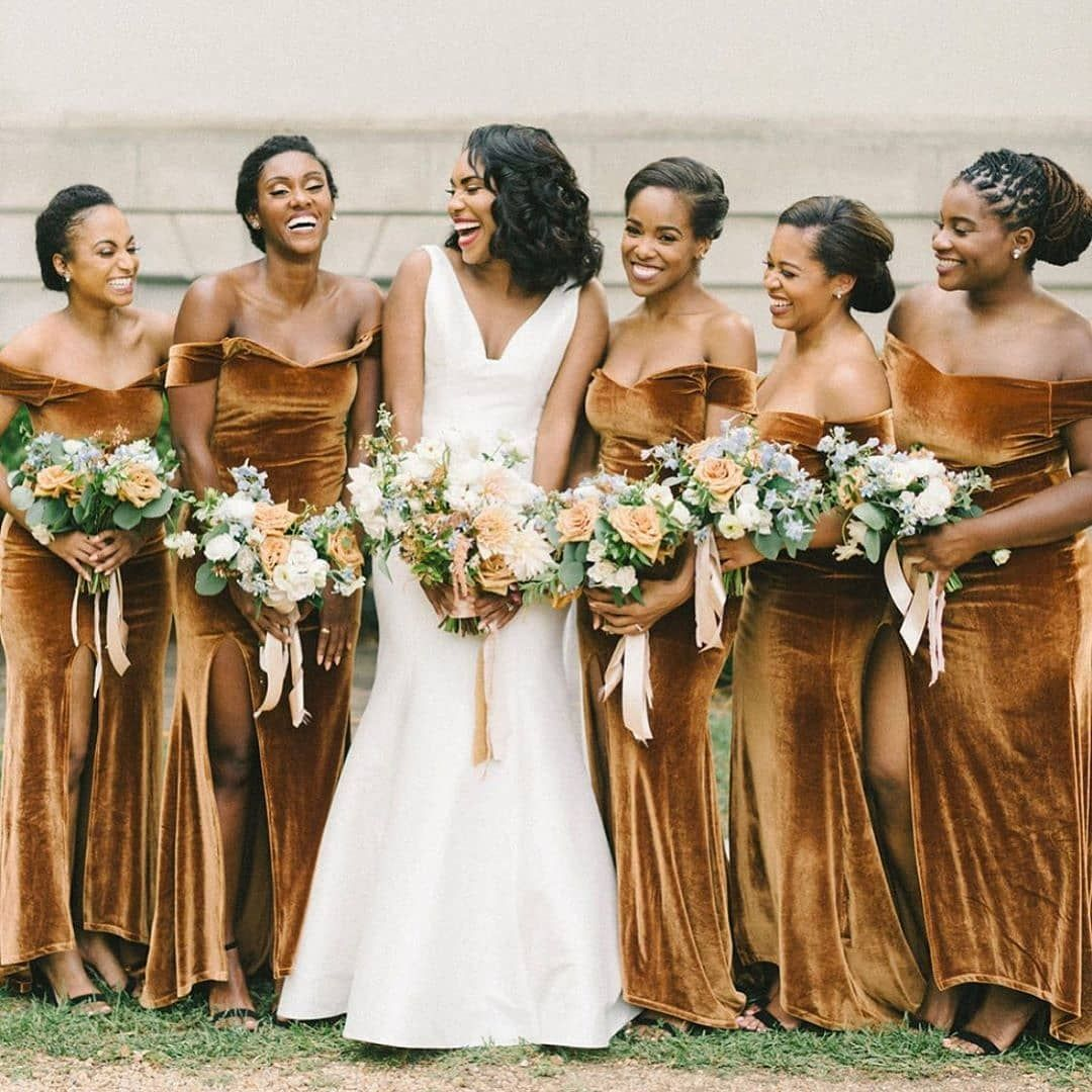 Style Me Pretty On Instagram When Everybody Feels Their Best On Wedding Day The Velvet Bridesmaid Dresses Gold Bridesmaid Dresses Mermaid Bridesmaid Dresses [ 1080 x 1080 Pixel ]