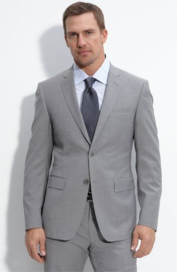 Versace Collection Trim Fit Grey Stretch Wool Suit | Suits ...