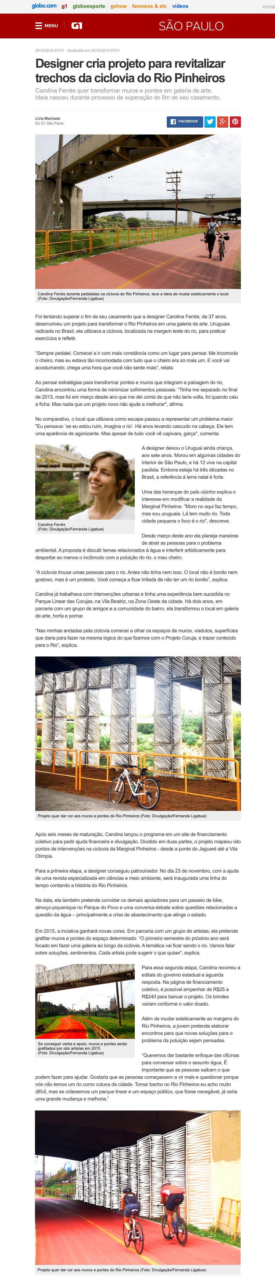 Designer creates project to revitalize Pinheiros River banks