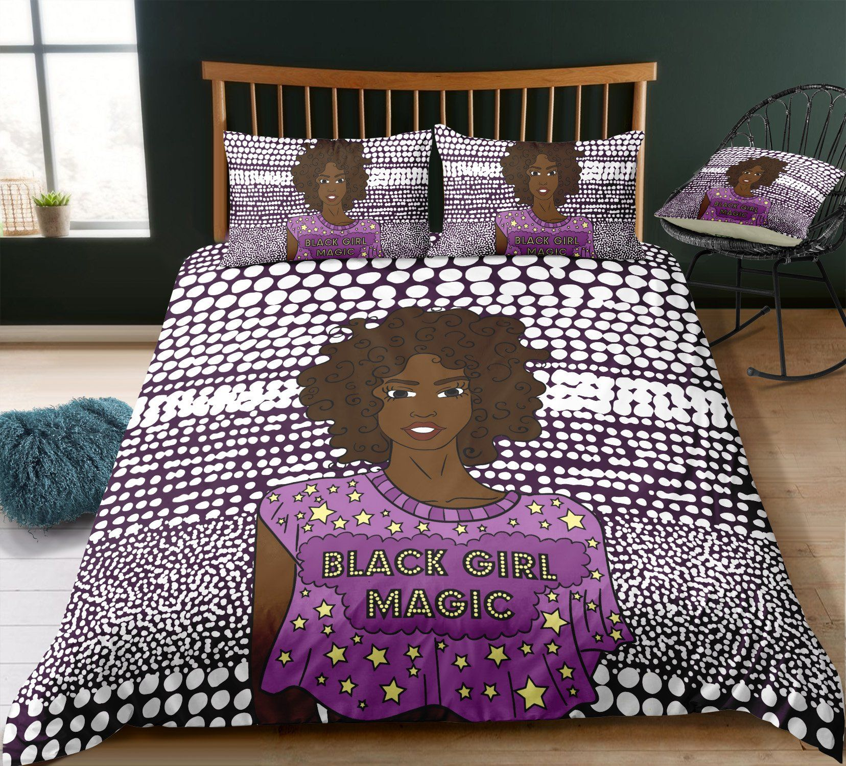 Best Black Girl Magic Bed Set Crib Bedding Girl Pink Bedding 640 x 480