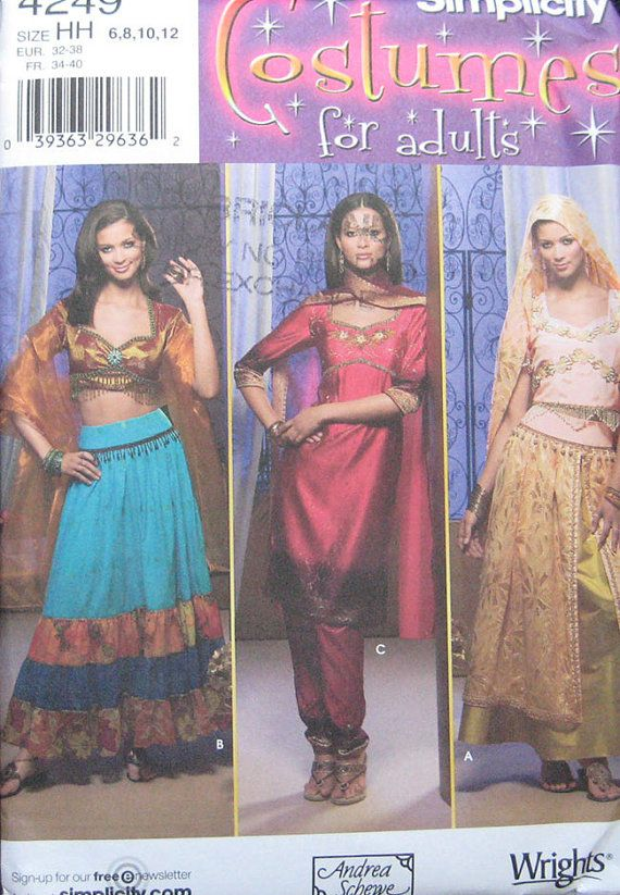 Simplicity Costume Belly Dancer Pattern 4249 by TheHowlingHag ...
