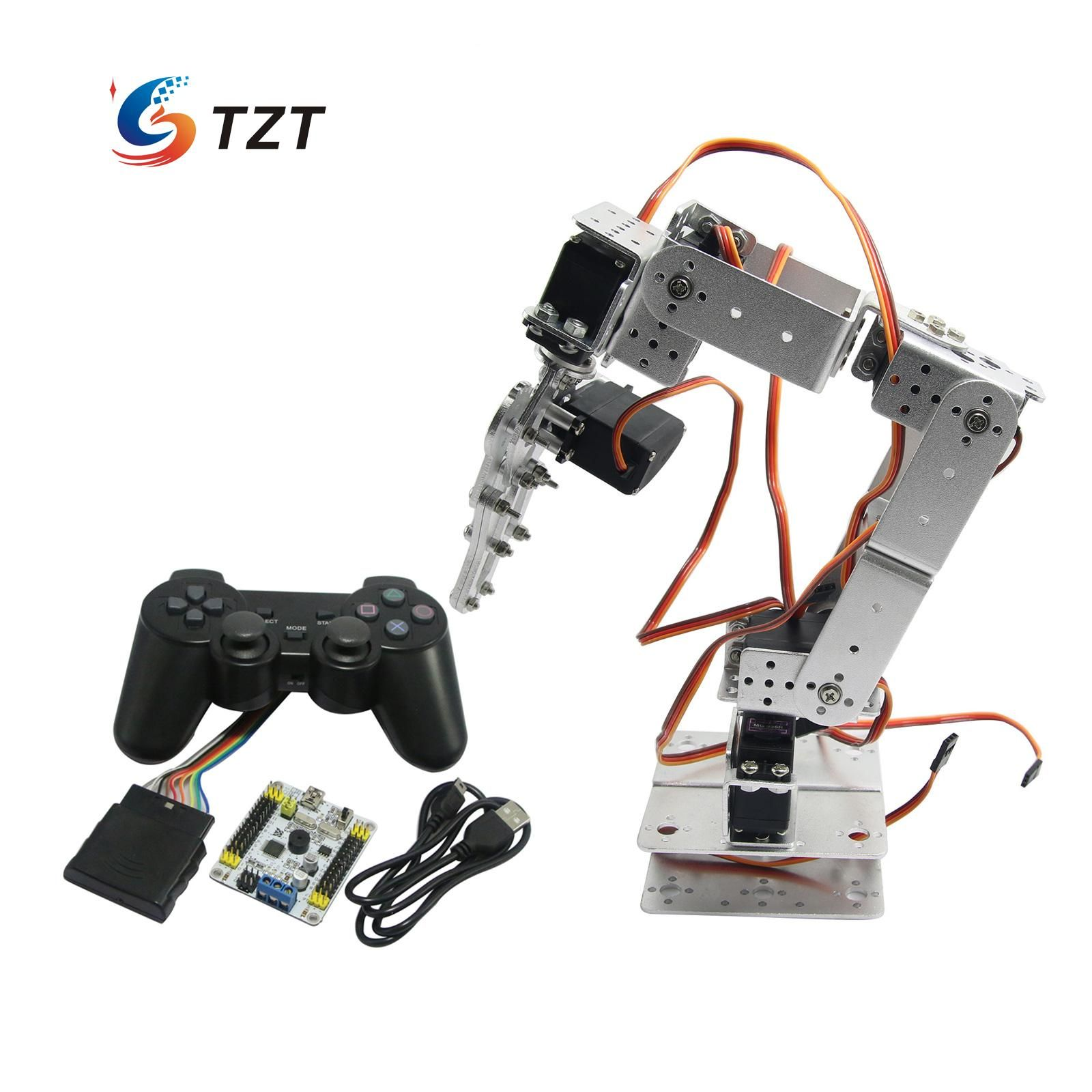 click to buy assembled robot 6 dof arm mechanical robotic clamp claw