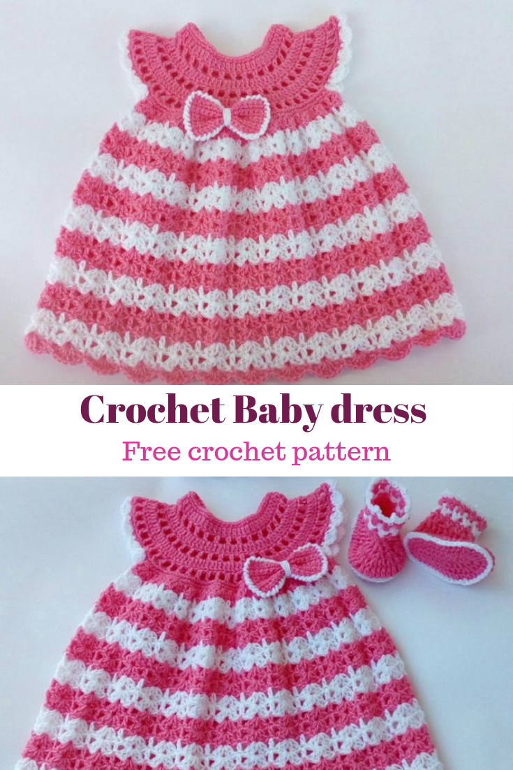 Photo of Crochet baby dress free pattern | Soukaina Collections – crochet