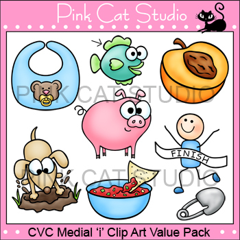 Medial 'i' Clip Art Value Pack Personal or Commercial