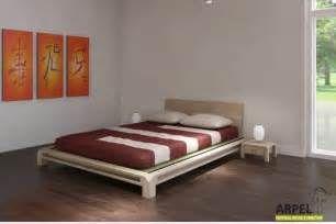 Tatami Bett tiefliegendes japanisches bett aiko mit tatami oder camas