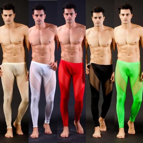 4b8e36577a383 High Quality Men's Sexy Mesh Sheer Lounge Pants Sexy Long Pants Transparent Mesh  Tights Leggings for
