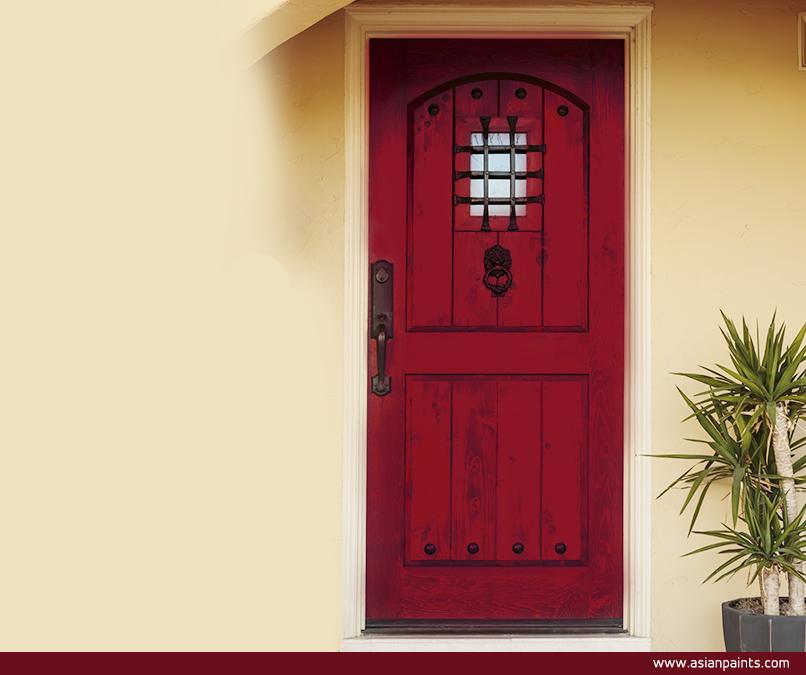 Exterior Home Designideas: This Fresh Reinterpretation Of The Red Front Door Is A
