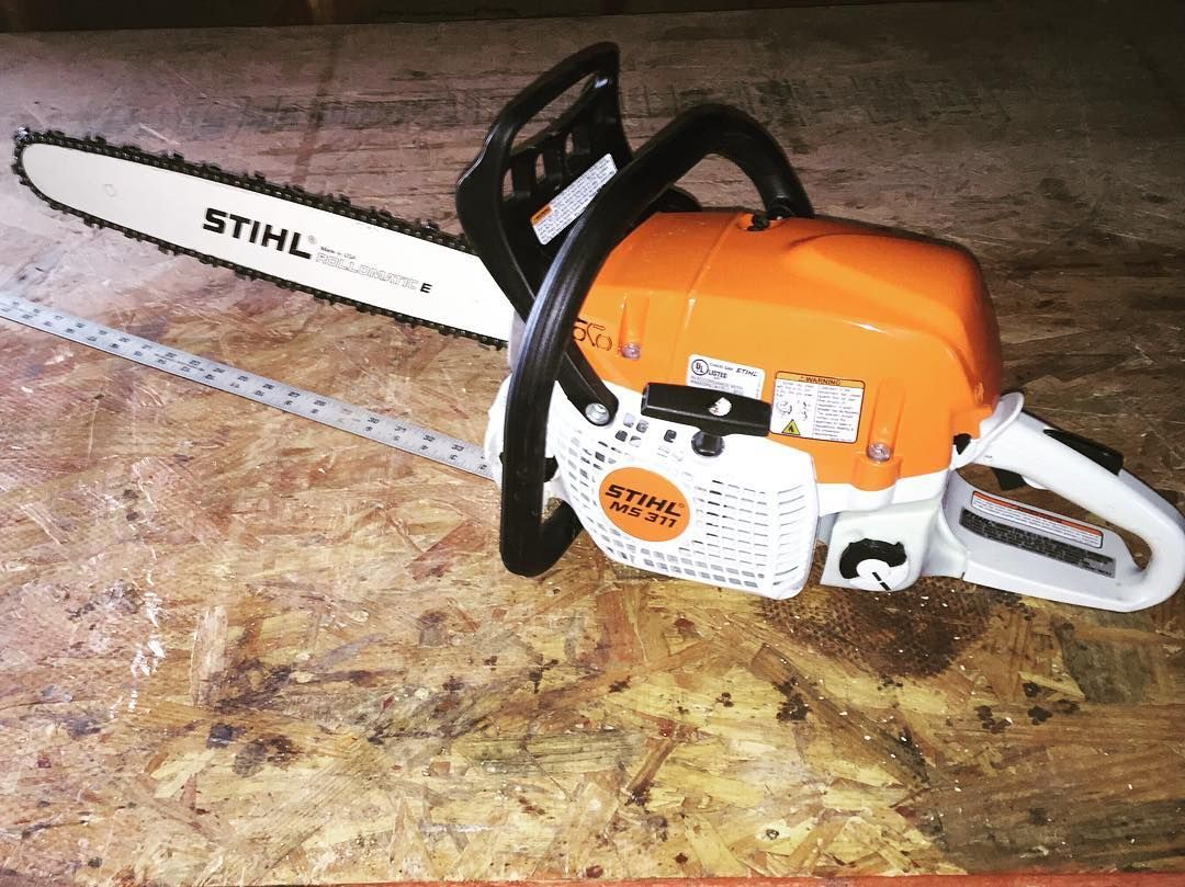 New toy stihl ms 311 with 20 bar good power and not too - Stihl ms 311 ...