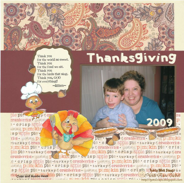 PK-141 Lil' Tweets – Thanksgiving: Peachy Keen Stamps | Home of the original clear, peach-tinted, high-quality whimsical face stamps.