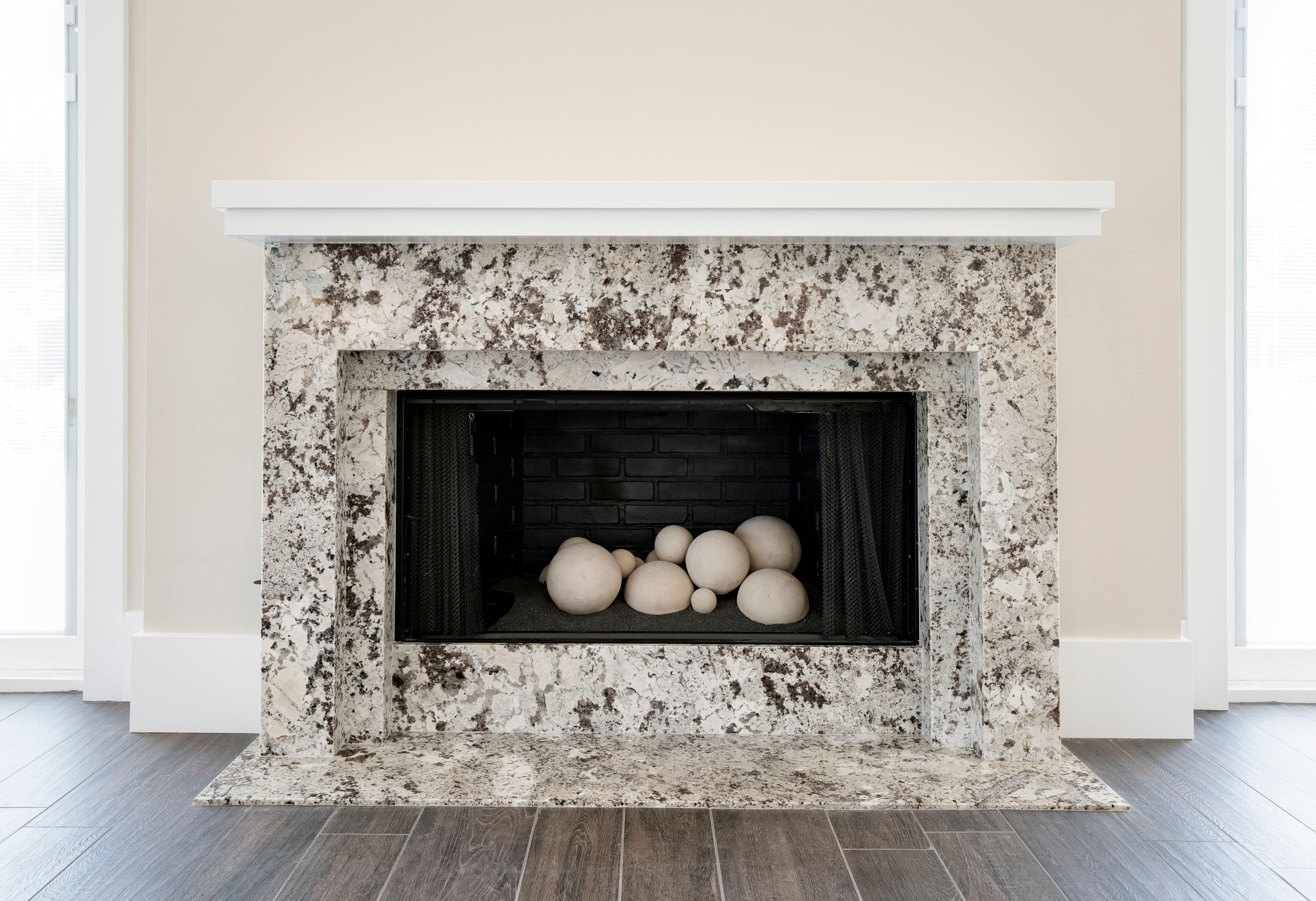 Fireplace W Granite Surround Wood Fireplace Surrounds