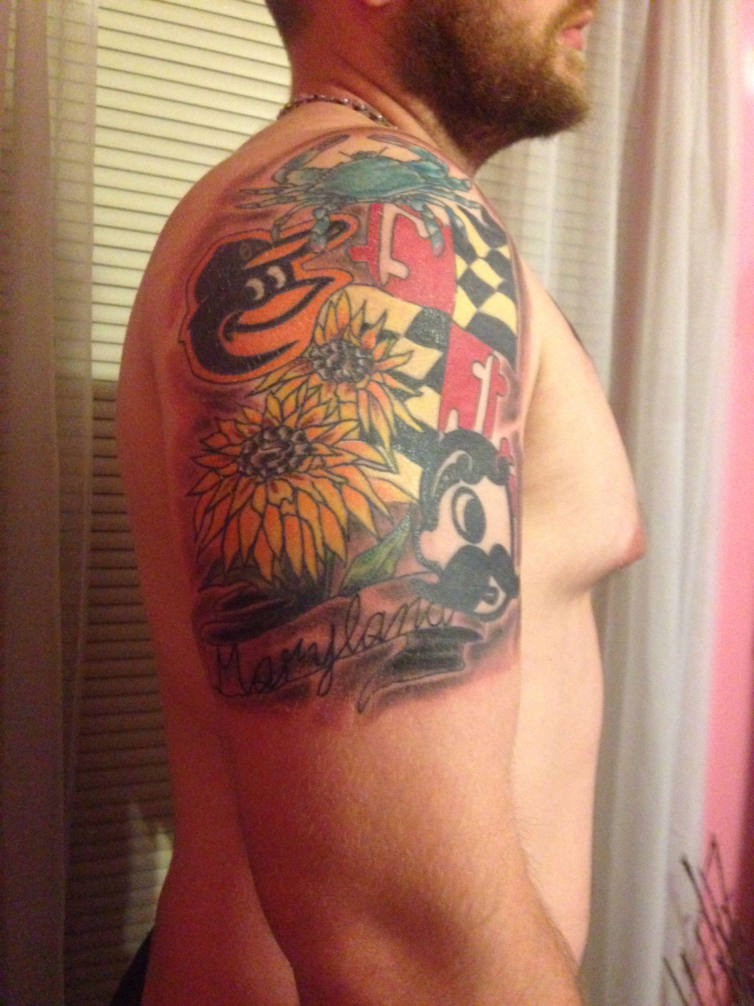 Baltimore maryland tattoo casey pinterest maryland for Maryland tattoo ideas