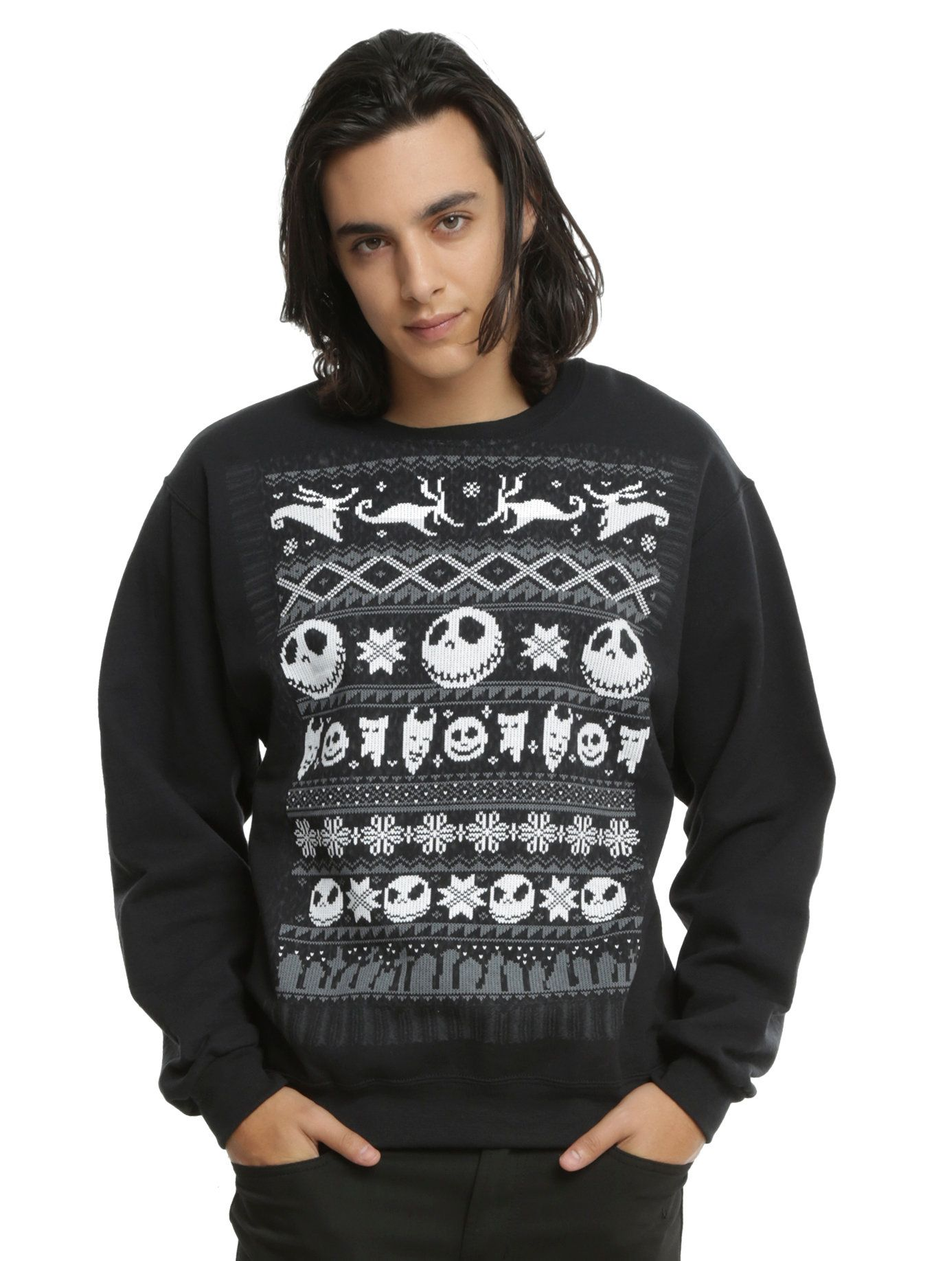 Nightmare Before Christmas Ugly Sweater Male Fashion Pinterest