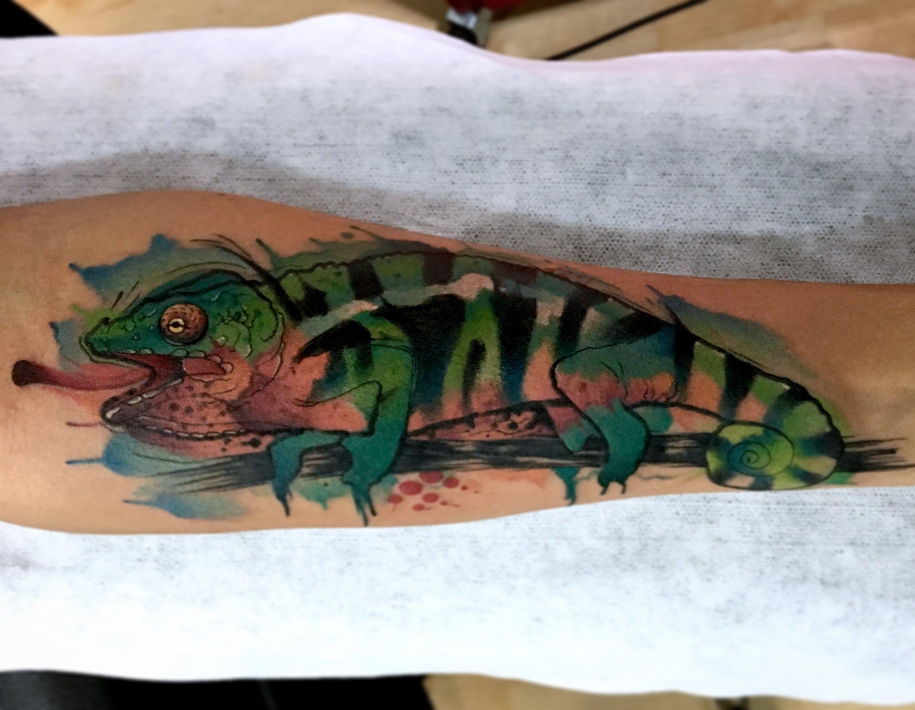 Chameleon TATTOO by Juan David Castro R